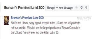 Bransons Promised Land Zoo